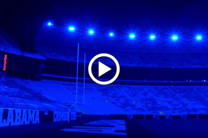 Alabama's Bryant-Denny Stadium Turns Blue, Honoring Slain Policeman