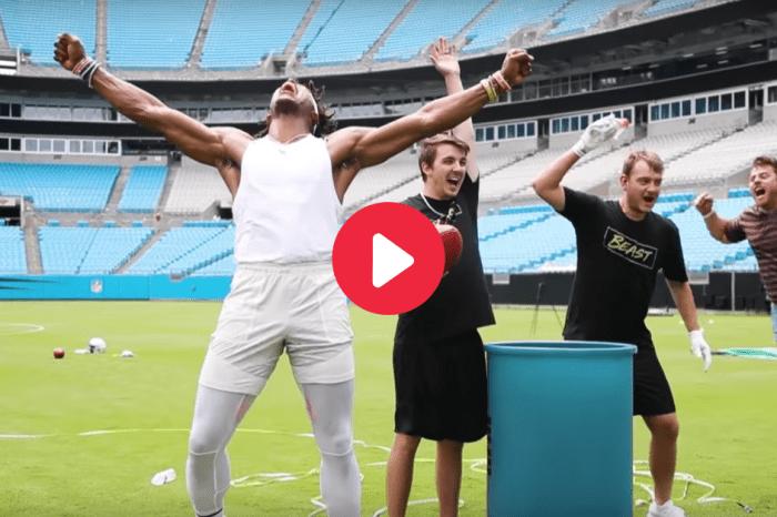 Cam Newton Breaks 3 World Records Alongside YouTube Star