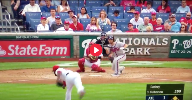 MLB Player Takes 90 MPH Fastball To Face For Unfortunate Strike Call