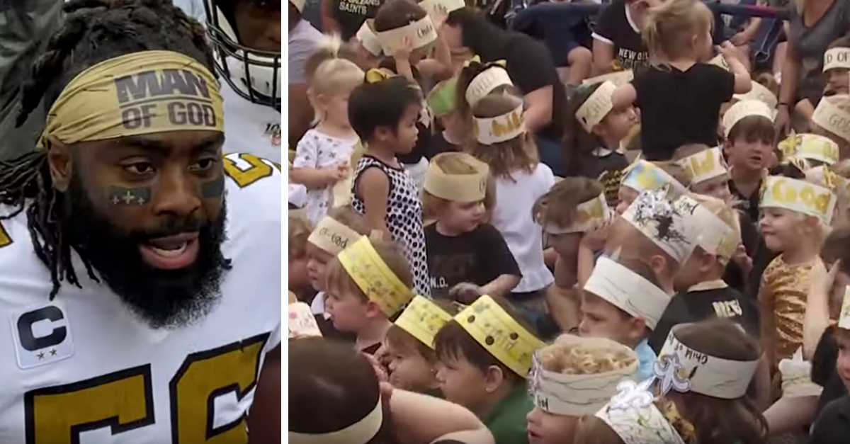 Students Make 'Child of God' Headbands to Support Saints Captain