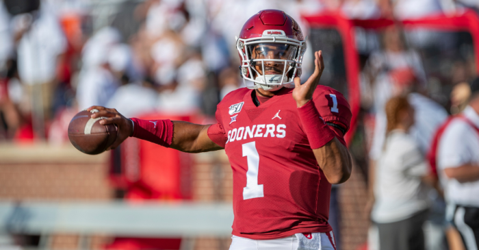 Jalen Hurts Has 508 Total Yards, 6 TDs as Oklahoma Rolls in Opener