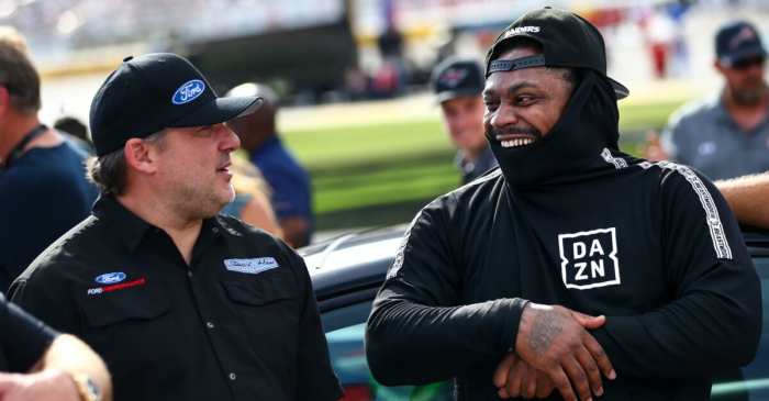 Marshawn Lynch Drove the NASCAR Pace Car to Add to His Legacy