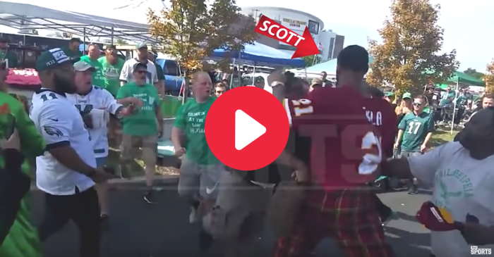NBA Player Fights Eagles Fans in All-Out Tailgate Brawl