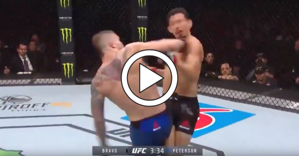 UFC Fighter Throws Spinning Backfist to KO Opponent