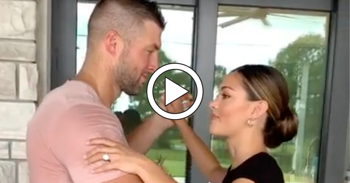 Tim Tebow Gets Really Sweaty in Wedding Dance Practice Video