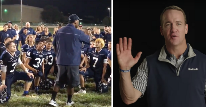 Peyton Manning Surprises Texas School for the Deaf in Powerful Video