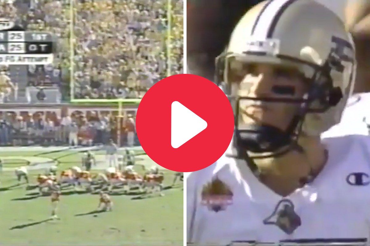 """Georgia's """"Outback Bowl Comeback"""" Game-Winning FG Stunned a Young Drew Brees"""