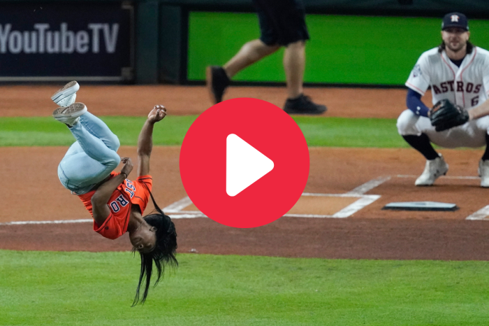 Simone Biles' First Pitch Backflip is One of a Kind