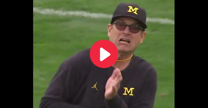 We're Still Laughing at Jim Harbaugh Getting Hit By a Football