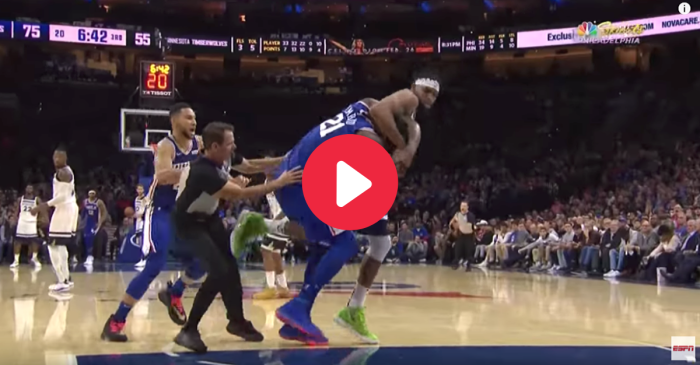 It Was Joel Embiid vs. Karl-Anthony Towns in a Full-Blown NBA Brawl