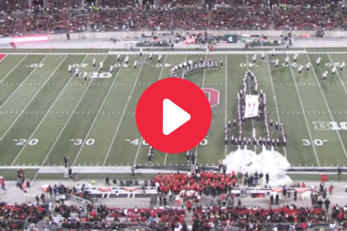 Ohio State Band Recreates Moon Landing With Fire Extinguishers