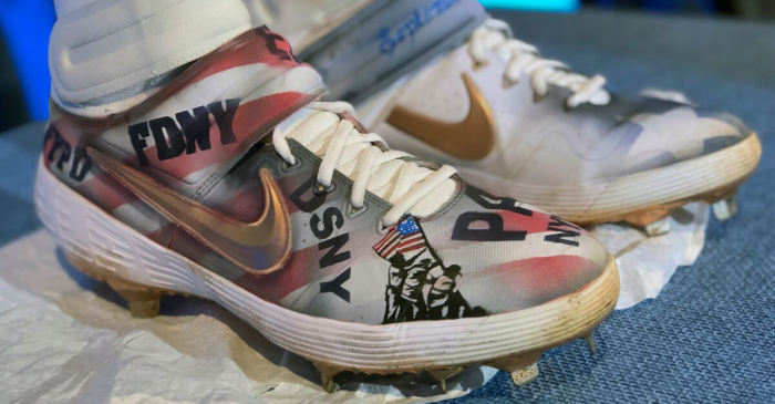 Mets Star Pete Alonso Donates Custom Cleats, Bat to 9/11 Museum