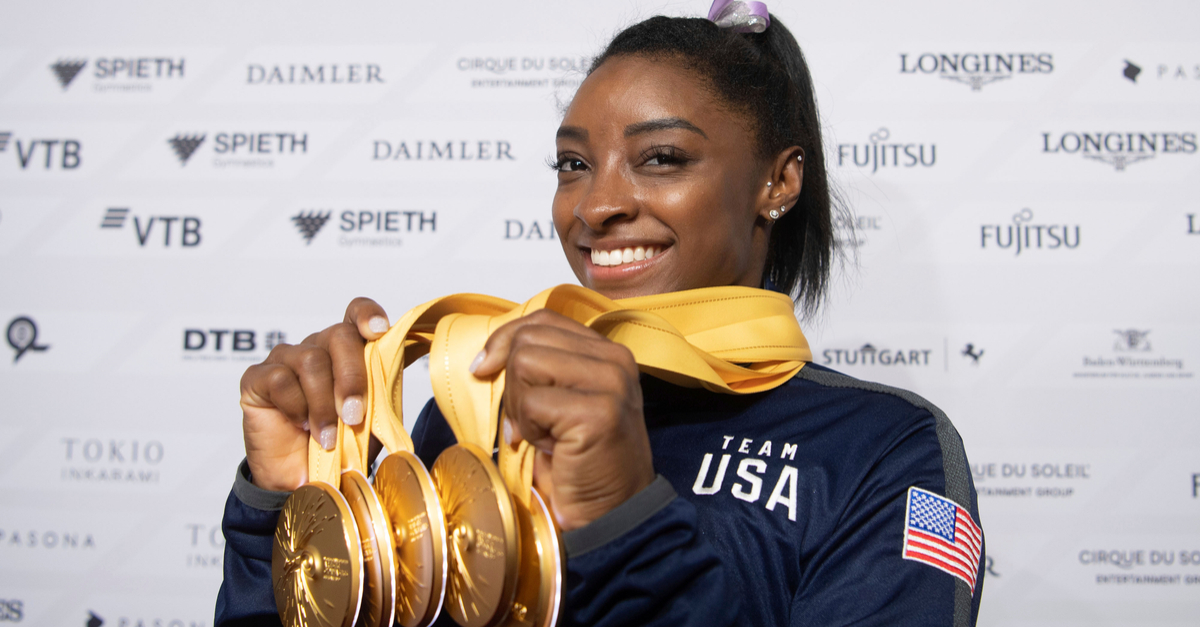 Simone Biles Wins 25th Medal, Most by Any Gymnast in History