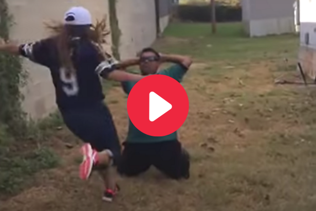 Cowboys Wife Kicks Husband Below the Belt for Losing a Bet