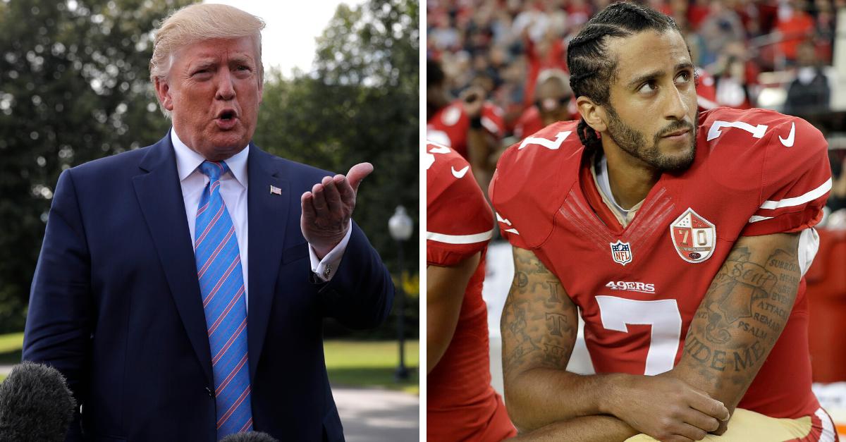 "President Trump: Colin Kaepernick Will Play ""If He's Good Enough"""
