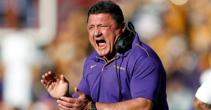 "Never Forget Ed Orgeron's Postgame Speech: ""Roll Tide What? F— You"""