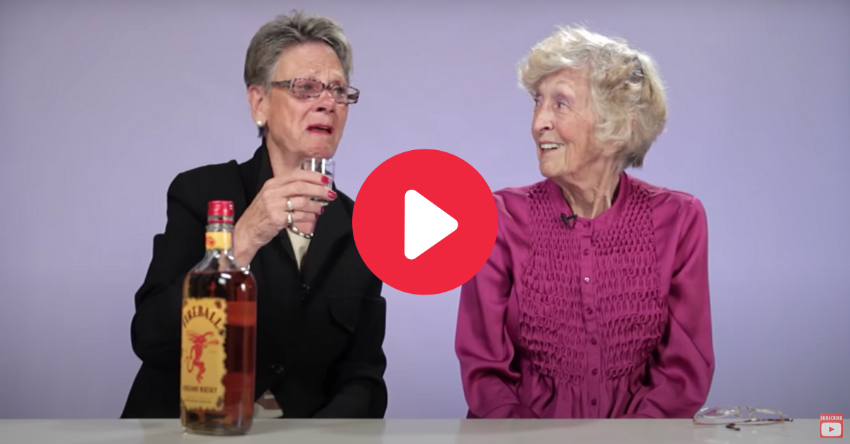 Hilarious Grandmas Drink Fireball Whiskey for the First Time