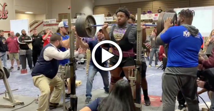 LSU Signee Squats 705 Pounds With Ease