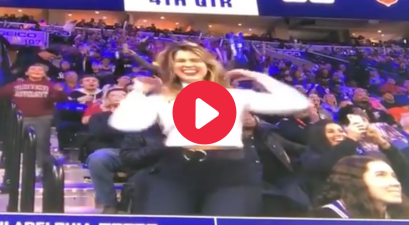 Beauty Queen Wows Crowd in Jumbotron Dance-Off