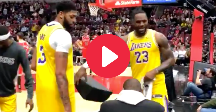 LeBron James Shuts Up Heckler From the Lakers Bench