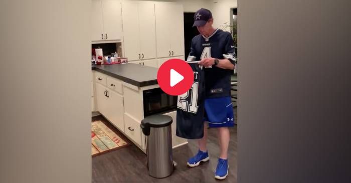 Skip Bayless Throws Ezekiel Elliott Jersey in the Trash After Loss