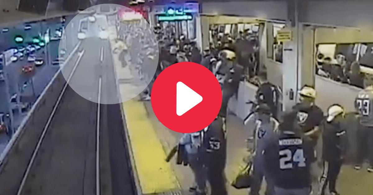 Worker Saves Drunken Man's Life as Speeding Train Approaches