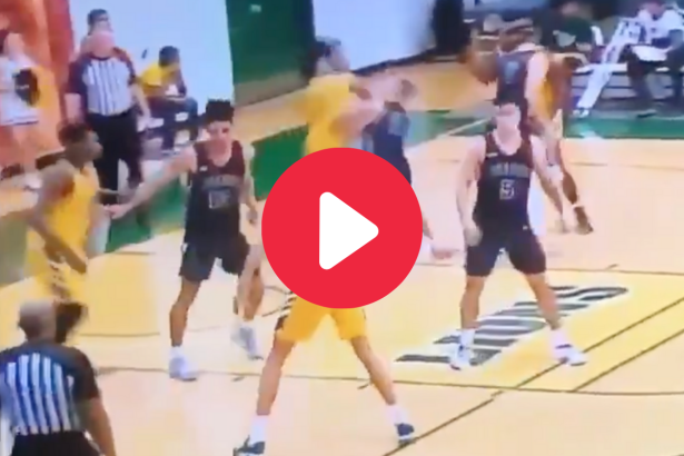 Player Throws Cheap-Shot Elbow & Ref Completely Ignores It