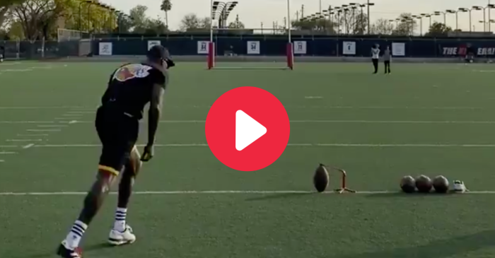 Chad Johnson Nails 60-Yard Field Goal, Gets Tryout With XFL