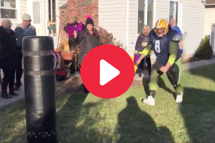 Dad Turns Gender Reveal Into His NFL Tryout Video