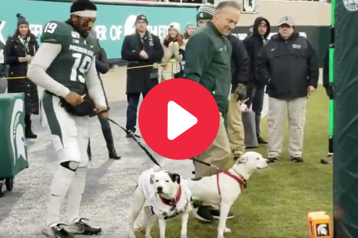 Dogs Join MSU Star for Senior Day After Parents' Death