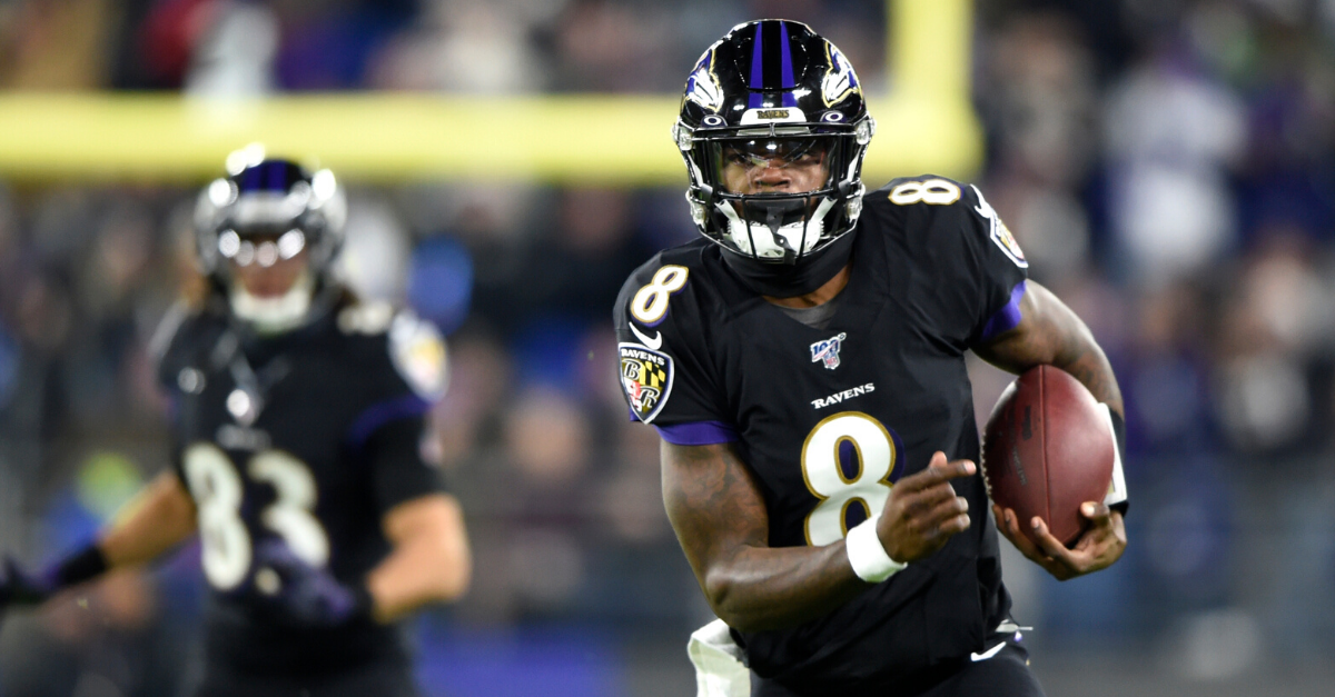 Lamar Jackson Breaks Michael Vick's QB Rushing Record