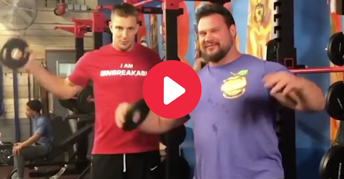 A Gronk Squat? No Problem for the World's Strongest Man