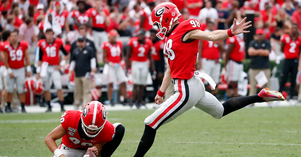 Rodrigo Blankenship Wins Lou Groza Award as Nation's Best Kicker