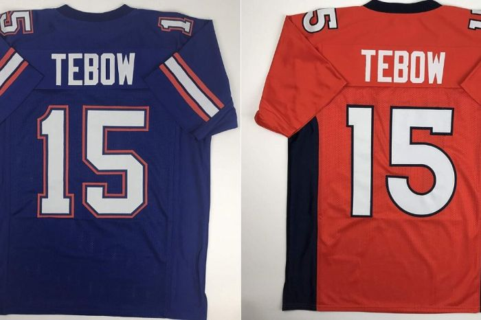 From Football to Baseball, Tim Tebow's Jerseys are Perfect Keepsakes