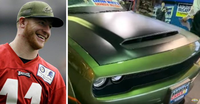 Carson Wentz's Eagles-Themed Dodge Challenger is Up For Sale