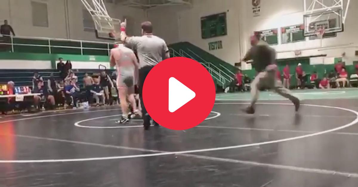 Father Attacks High School Wrestler