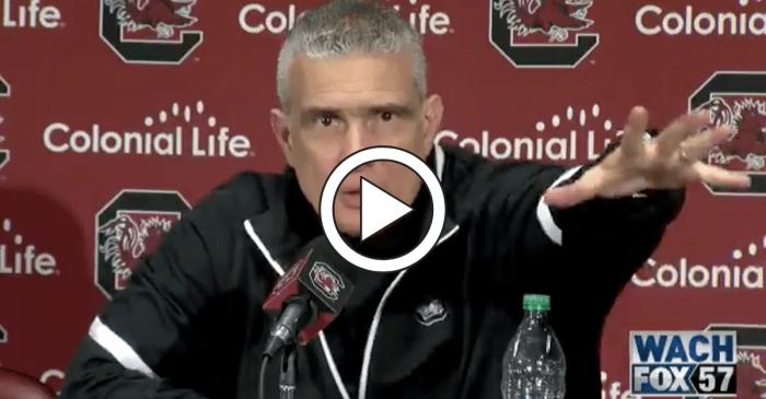 "USC Coach Shoves Player, Says ""Next Time I'll Hug Him"""