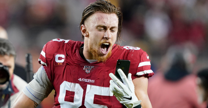 This 49ers TE's Bizarre Pregame Routine Is Not Advisable