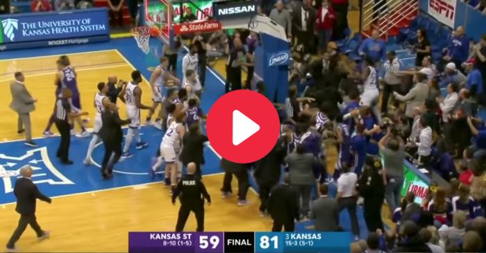 Kansas vs. Kansas State: Rivalry Fight Spills Into the Crowd
