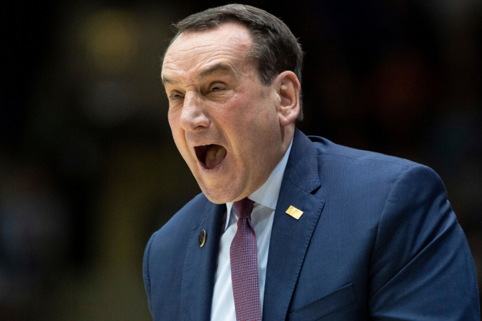 "Coach K Yells ""Shut Up"" to Duke Students for In-Game Chant"