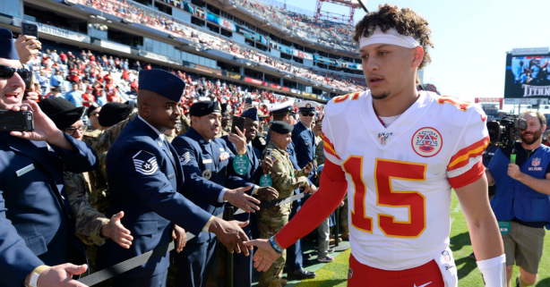 Patrick Mahomes Builds Houses for Veterans in His Free Time