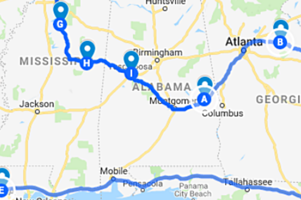 The Ultimate Road Trip Map to the South's Historic CFB Homes