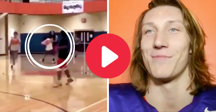 Trevor Lawrence Shoved a Basketball Player, Then Smiled About It