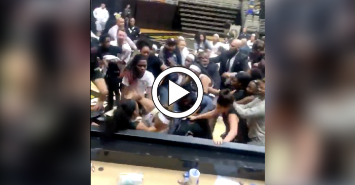 Ugly Postgame Brawl Sends Players Flying Into Scorer's Table
