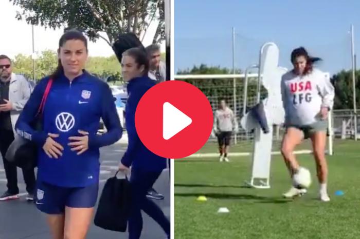 U.S. Soccer Star Alex Morgan Training While 7 Months Pregnant