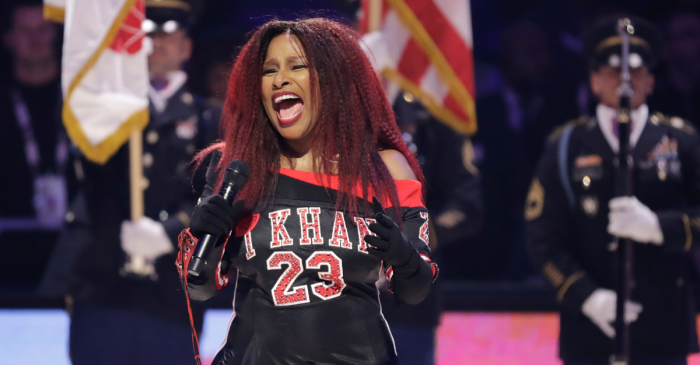 Chaka Khan Butchers National Anthem Performance