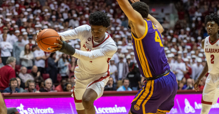 Herbert Jones' One-Handed Free Throws Helps Alabama Upset LSU