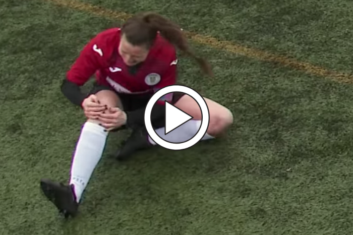 Soccer Player Smacks Her Dislocated Knee Back Into Place