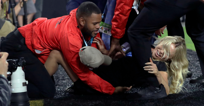 Security Tackles Instagram Model Trying to Rush Super Bowl Field