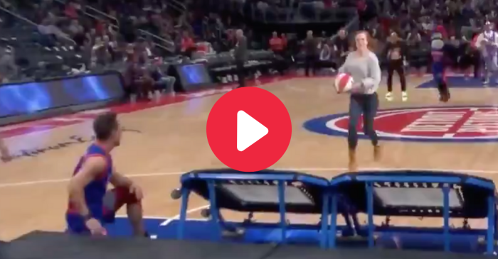 Woman Fails Miserably at Trampoline Dunk Attempt